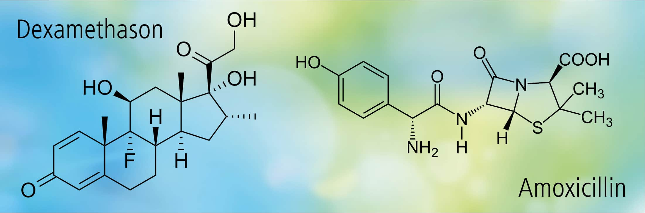 Chemische Struktur Dexamethason Amoxicillin denecke zahnmedizin