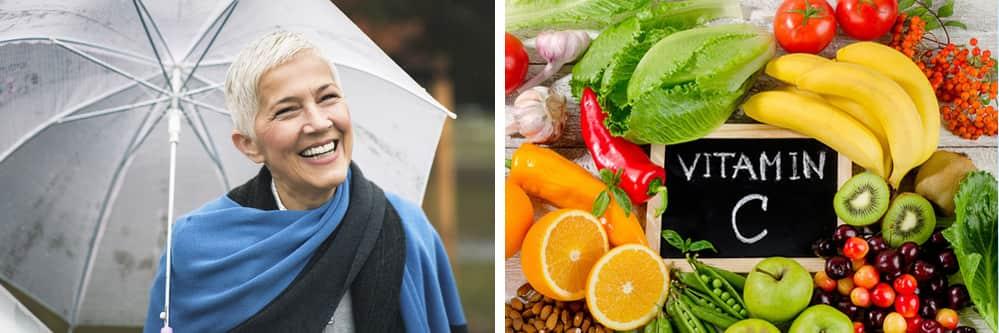 Symbolbild Frau und Obst denecke zahnmedizin